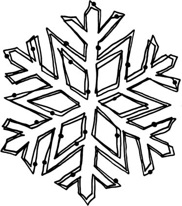 giant snowflakes coloring pages - photo#24